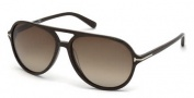 Tom Ford FT0331 Jared Sunglasses Sunglasses - 50K Dark Brown / Gradient Roviex