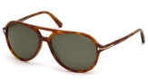 Tom Ford FT0331 Jared Sunglasses Sunglasses - 52N Dark Havana / Green