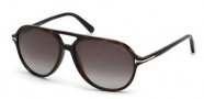 Tom Ford FT0331 Jared Sunglasses Sunglasses - 56P Havana / Gradient Green