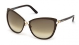 Tom Ford FT0322 Celia Sunglasses Sunglasses - 28F Shiny Rose Gold / Gradient Brown
