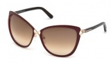Tom Ford FT0322 Celia Sunglasses Sunglasses - 28J Shiny Rose Gold / Roviex