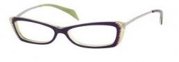 Alexander McQueen 4163 Eyeglasses Eyeglasses - 0R2I Violet Green Gold