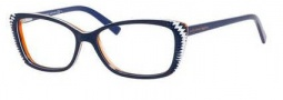 Alexander McQueen 4164 Eyeglasses Eyeglasses - 0W0A Blue White Orange