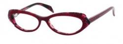 Alexander McQueen 4199 Eyeglasses Eyeglasses - 02JC Red Pink Havana