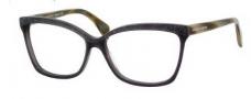 Alexander McQueen 4201 Eyeglasses Eyeglasses - 0K7W Gray Horn