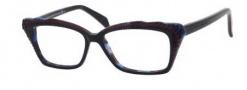 Alexander McQueen 4205 Eyeglasses Eyeglasses - 0K65 Black Burgundy Blue