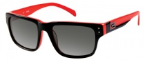 Guess GUP 1010 Sunglasses Sunglasses - BKRD-35: Black Red