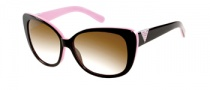 Guess GU 7276 Sunglasses Sunglasses - BLK-3: Black Pink