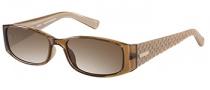 Guess GU 7259 Sunglasses Sunglasses - BRN-1: Crystal Brown