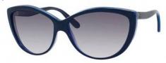 Alexander McQueen 4147/S Sunglasses Sunglasses - 0F12 Blue Azure Blue (JJ gray gradient lens)