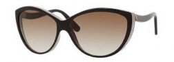 Alexander McQueen 4147/S Sunglasses Sunglasses - 0RCQ Brown Cream Black (CC brown gradient lens)