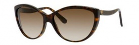 Alexander McQueen 4147/S Sunglasses Sunglasses - 0086 Dark Havana (CC brown gradient lens)