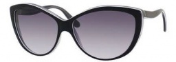 Alexander McQueen 4147/S Sunglasses Sunglasses - 0F10 White Black Peach Gray (9C dark gray gradient lens)