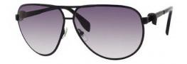 Alexander McQueen 4156/S Sunglasses Sunglasses - 0003 Matte Black (JJ gray gradient lens)