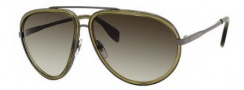 Alexander McQueen 4198/S Sunglasses Sunglasses - 0IGZ Dark Ruthenium (DB brown gray gradient lens)