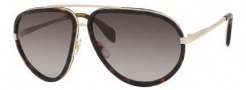Alexander McQueen 4198/S Sunglasses Sunglasses - 086Q Light Gold/Dark Havana (HA brown gradient lens)