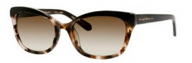 Kate Spade Amara/S Sunglasses Sunglasses - 0JAZ Black Blush Tortoise (Y6 brown gradient lens)