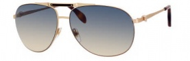 Alexander McQueen 4210/S Sunglasses  Sunglasses - 0009 Gold Shiny Matte (IE brown mirror gradient lens)