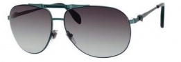 Alexander McQueen 4210/S Sunglasses  Sunglasses - 0CIE Shiny Military Green (5M gray gradient aqua lens)