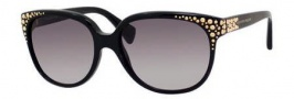 Alexander McQueen 4212/S Sunglasses Sunglasses - 0807 Black (DX dark gray shaded lens)