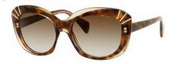 Alexander McQueen 4214/S Sunglasses  Sunglasses - 008L Champagne Havana (CC brown gradient lens)