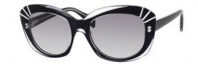Alexander McQueen 4214/S Sunglasses  Sunglasses - 0MH9 Crystal Black (VK gray gradient lens)