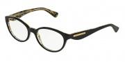 Dolce & Gabbana DG3173 Eyeglasses Eyeglasses - 2744 Top Black on Leaf Gold