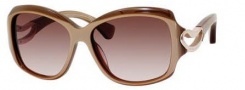 Alexander McQueen 4215/S Sunglasses Sunglasses - 084A Beige Gold (S2 brown gradient lens)