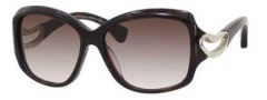 Alexander McQueen 4215/S Sunglasses Sunglasses - 0ZY1 Havana Medium (JS gray gradient lens)