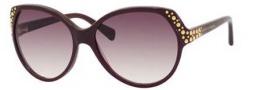 Alexander McQueen 4216/S Sunglasses Sunglasses - 0PJQ Burgundy (J8 mauve gradient lens)
