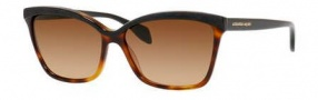 Alexander McQueen 4219/S Sunglasses Sunglasses - 0UVP Black Dark Tortoise (71 brown gradient lens)