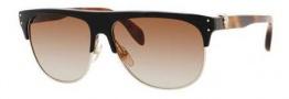 Alexander McQueen 4220/S Sunglasses Sunglasses - 0AUE Black Dark Tortoise (6Y brown gradient lens)