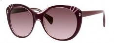 Alexander McQueen 4230/S Sunglasses Sunglasses - 0SS8 Aubergine Transparent (DZ mauve lens)