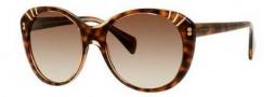 Alexander McQueen 4230/S Sunglasses Sunglasses - 008L Champagne Havana (CC brown gradient lens)