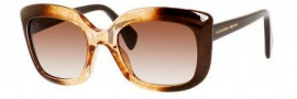 Alexander McQueen 4235/S Sunglasses Sunglasses - 02JA Brown Honey (JD brown gradient lens)