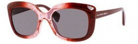 Alexander McQueen 4235/S Sunglasses Sunglasses - 02JM Burgundy Red Transparent (Y1 gray lens)