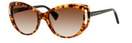 Alexander McQueen 4238/S Sunglasses Sunglasses - 02JI Havana (JD brown gradient lens)