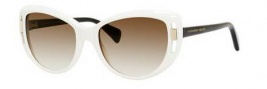 Alexander McQueen 4238/S Sunglasses Sunglasses - 0IDE White (CC brown gradient lens)