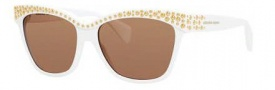Alexander McQueen 4239/S Sunglasses Sunglasses - 0C29 White (04 brown lens)