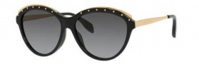 Alexander McQueen 4241/S Sunglasses Sunglasses - 0ANW Black (HD gray gradient lens)