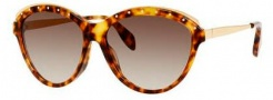 Alexander McQueen 4241/S Sunglasses Sunglasses - 02IK Havana (JD brown gradient lens)