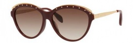 Alexander McQueen 4241/S Sunglasses Sunglasses - 02JL Opal Burgundy (JD brown gradient lens)