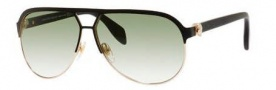 Alexander McQueen 4242/S Sunglasses Sunglasses - 00SR Matte Black/Gold (ZW dark green gradient lens)