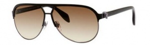 Alexander McQueen 4242/S Sunglasses Sunglasses - 02IS Shiny Black (JD brown gradient lens)