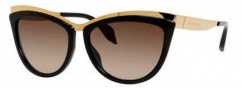 Alexander McQueen 4251/S Sunglasses Sunglasses - 08JE Gold Black (J6 brown gradient lens)
