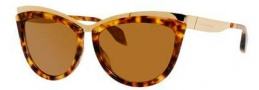 Alexander McQueen 4251/S Sunglasses Sunglasses - 08JC Gold Havana (H0 brown lens)