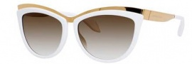 Alexander McQueen 4251/S Sunglasses Sunglasses - 08JF Gold White (0D brown gradient lens)
