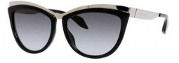 Alexander McQueen 4251/S Sunglasses Sunglasses - 0E60 Palladium Black (PT gray gradient lens)