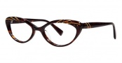 Seraphin Heather Eyeglasses Eyeglasses - 8528 Dark Tortoise Gold w/ Stones