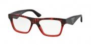 Prada PR 20QV Eyeglasses Eyeglasses - RO0101 Red Havana Gradient Red